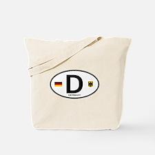 Germany Euro Oval Tote Bag