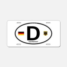 Germany Euro Oval Aluminum License Plate