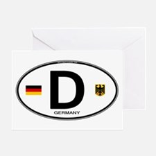 Germany Euro Oval Greeting Card