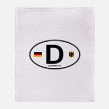 Germany Euro Oval Throw Blanket
