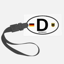 Germany Euro Oval Luggage Tag