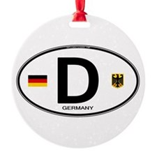 Germany Euro Oval Ornament