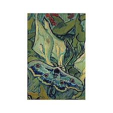 Van Gogh - Emperor Moth Rectangle Magnet