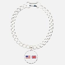 USA UK Flags for White Stuff Bracelet