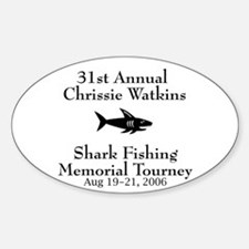 Shark Fishing Tourney Oval Decal
