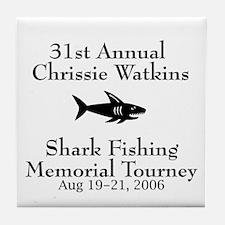 Shark Fishing Tourney Tile Coaster