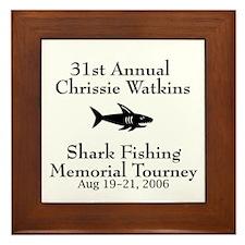 Shark Fishing Tourney Framed Tile
