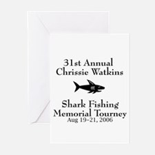 Shark Fishing Tourney Greeting Cards (Pk of 10