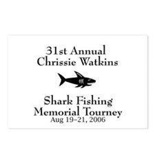 Shark Fishing Tourney Postcards (Package of 8)