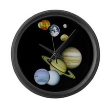 Planet Panorama Large Wall Clock