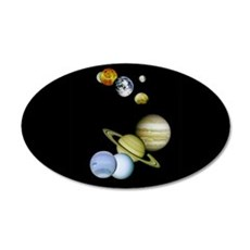 Planet Panorama 35x21 Oval Wall Decal