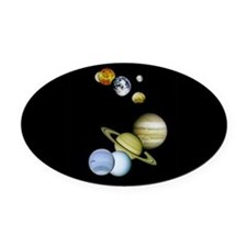 Planet Panorama Oval Car Magnet