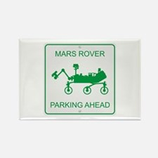 Mars Rover Parking Rectangle Magnet