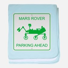 Mars Rover Parking baby blanket