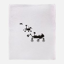 Mars Rovers Throw Blanket