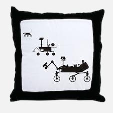 Mars Rovers Throw Pillow