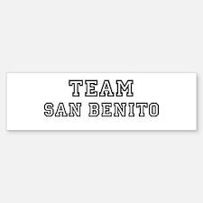 Team San Benito Bumper Bumper Bumper Sticker