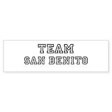 Team San Benito Bumper Bumper Sticker