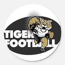 Tiger Football 4 Round Car Magnet