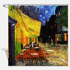 Van Gogh Cafe Terrace At Night Shower Curtain