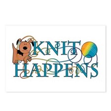 Knit Happen (Dog) Postcards (Package of 8)