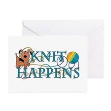 Knit Happen (Dog) Greeting Cards (Pk of 10)