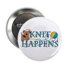 Knit Happen (Dog) Button