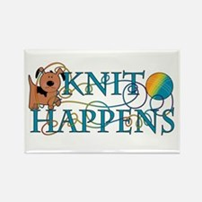 Knit Happen (Dog) Rectangle Magnet