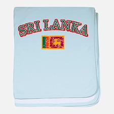 Sri Lanka Flag Designs baby blanket