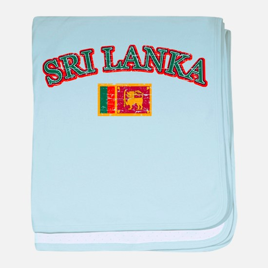 Sri Lanka Flag Designs baby blanket