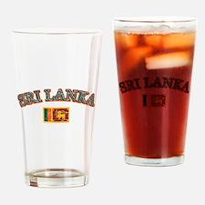 Sri Lanka Flag Designs Drinking Glass
