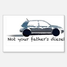 Not your father's diesel Sticker (Rectangle)