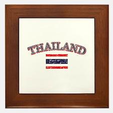 Thailand Flag Designs Framed Tile