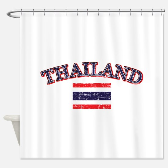 Thailand Flag Designs Shower Curtain