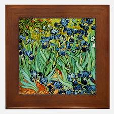 Van Gogh Irises Framed Tile