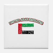 United Arab Emirates Flag Designs Tile Coaster