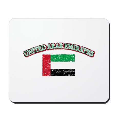 United Arab Emirates Flag Designs Mousepad