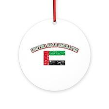 United Arab Emirates Flag Designs Ornament (Round)