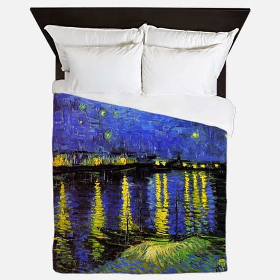 Van Gogh Starry Night Over The Rhone Queen Duvet