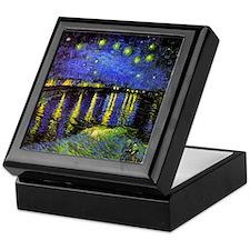Van Gogh Starry Night Over The Rhone Keepsake Box