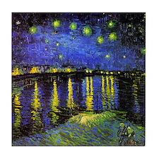 Van Gogh Starry Night Over The Rhone Tile Coaster
