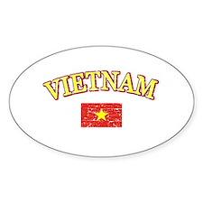 Vietnam Flag Designs Decal