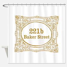 221b Baker Street Shower Curtain