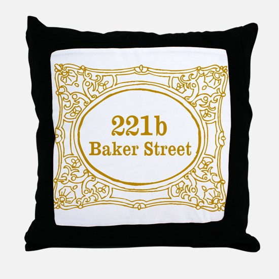 221b Baker Street Throw Pillow