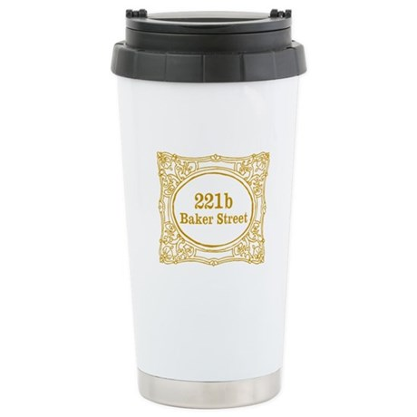 221b Baker Street Stainless Steel Travel Mug