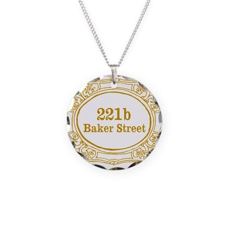 221b Baker Street Necklace Circle Charm