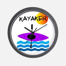 Kayaker 1 purple.PNG Wall Clock