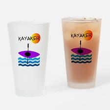 Kayaker 1 purple.PNG Drinking Glass