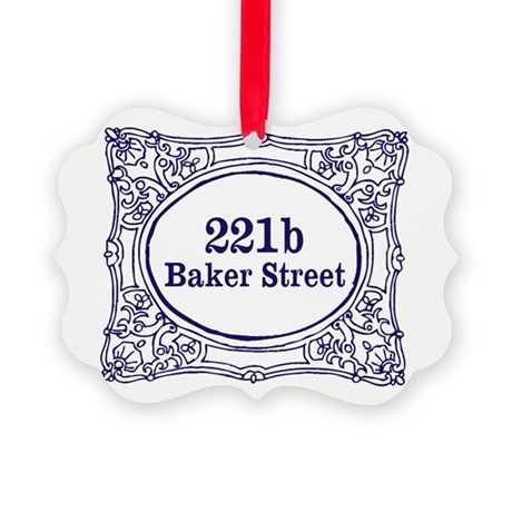 221b Baker Street Picture Ornament
