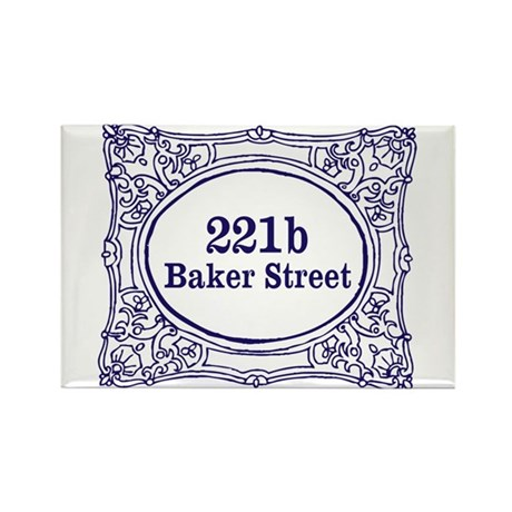 221b Baker Street Rectangle Magnet